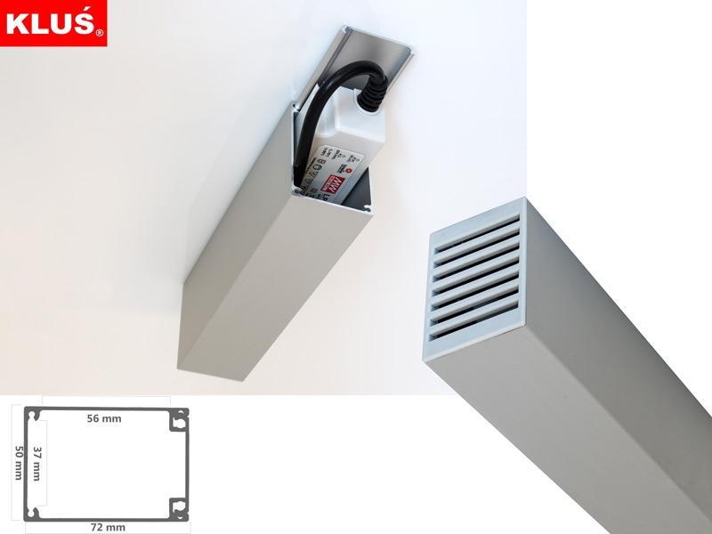 aluminium geh use zum verkleiden von led netzteilen led online led kaufen. Black Bedroom Furniture Sets. Home Design Ideas