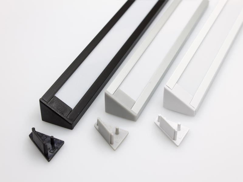 endkappen aus kunststoff passend zu led alu profil e und ec led online led kaufen. Black Bedroom Furniture Sets. Home Design Ideas