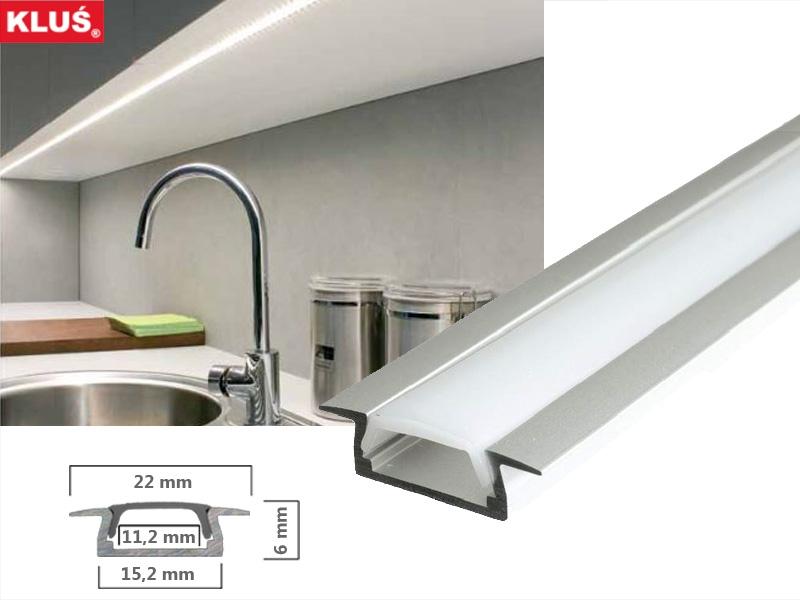 led profil fl gelprofil des hrst klus mikro k aluprofil. Black Bedroom Furniture Sets. Home Design Ideas