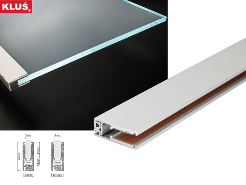 led alu profil g5 6 f r glaskanten mit 5 6mm materialst rke led online led kaufen. Black Bedroom Furniture Sets. Home Design Ideas