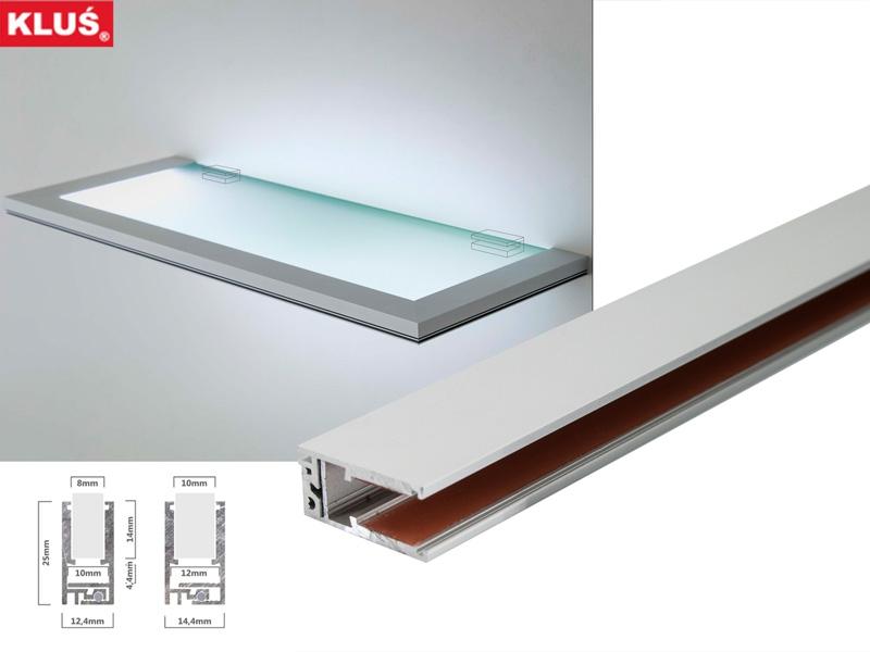 led glaskantenprofil f r glaskanten mit 8 10mm st rke led online led kaufen. Black Bedroom Furniture Sets. Home Design Ideas