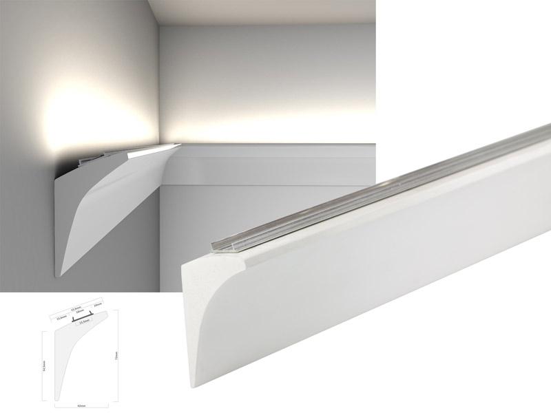 led lichtvoutenprofil lv1 aus polymer hd f r lichtvouten led online led kaufen. Black Bedroom Furniture Sets. Home Design Ideas