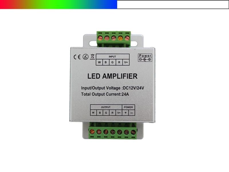 Rgbw led verst rker 12v 24v 4 kanal amplifier led konzept for Koch 4 kanal led funkfernsteuerung