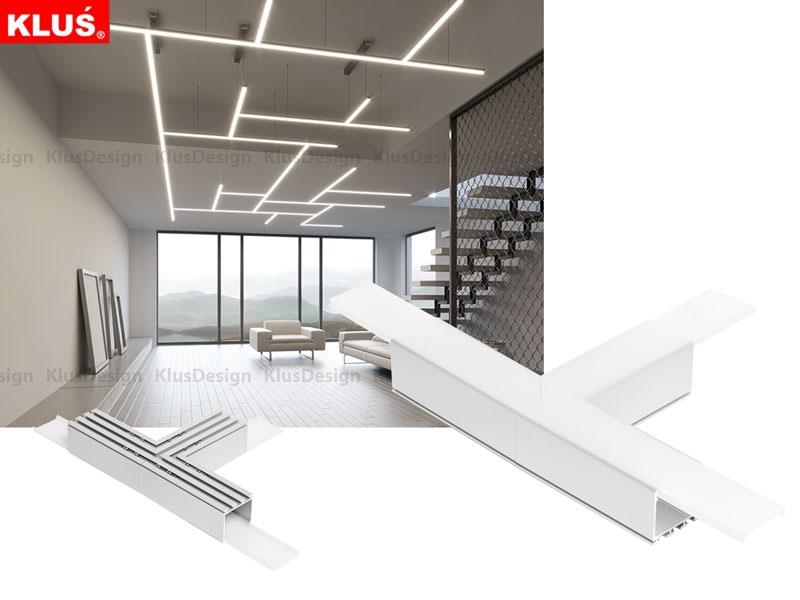 t verbinder passend zu dem led alu decken profil lipod led online led kaufen. Black Bedroom Furniture Sets. Home Design Ideas
