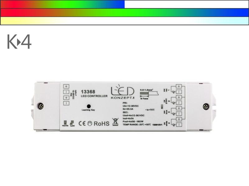 K 4 rgbw rgb cct led 4 kanal funk controller led konzept for Koch 4 kanal led funkfernsteuerung