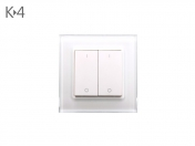 Funk K-4 LED 2 Zonen Wand-Dimmer