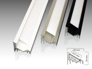led eckprofil e aus aluminium zum verbau von led strips. Black Bedroom Furniture Sets. Home Design Ideas