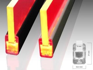 led alu glaskantenprofil g8 f r 8mm starke glaskanten led. Black Bedroom Furniture Sets. Home Design Ideas