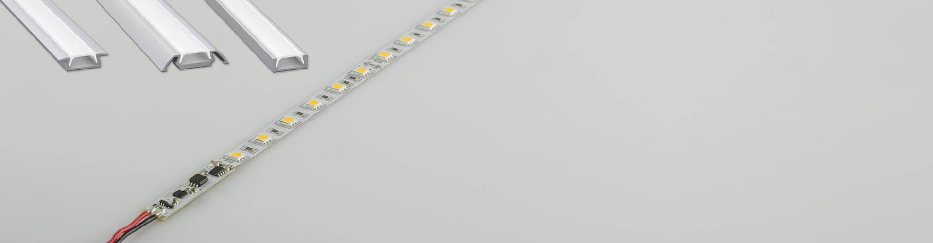LED Streifen mit angeschlossenem Profil-Schalter